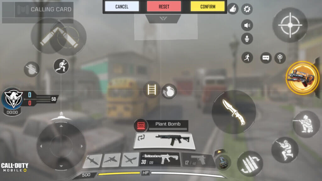 four finger claw layout in call of duty mobile