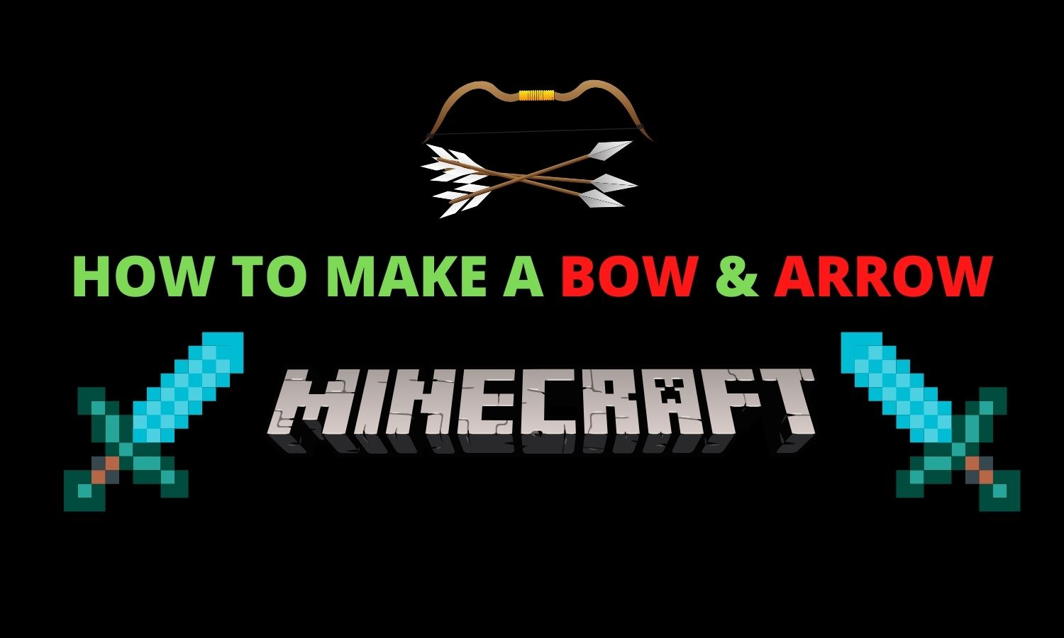 HOW TO MAKE A BOW AND ARROW IN MINECRAFT