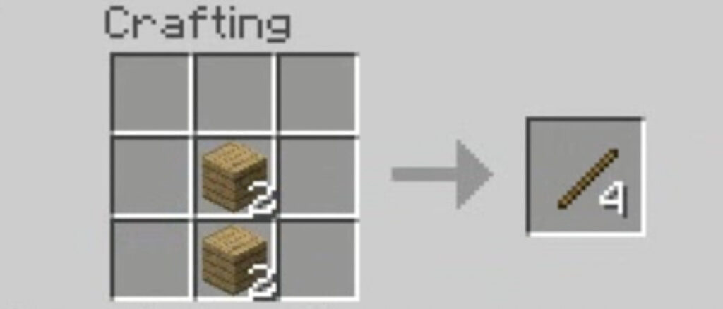 make bow and arrow in Minecraft